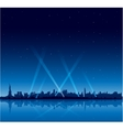 New York city at night copyspace background vector image