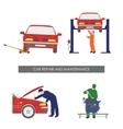 Repair and car maintenance Vehicle repair vector image