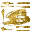 Set of gold brushes vector image