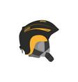 snowboarding helmet flat icon isolated vector image