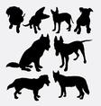 Dog pet animal silhouette 11 vector image