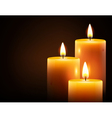 yellow candles vector image