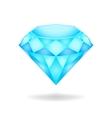 Blue diamond eps10 vector image