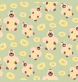 bear with sweetness pattern vector image