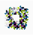 modern geometric abstract background circles on vector image vector image