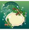 New Year background - fir tree branches and pine vector image vector image