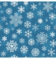 Christmas seamless pattern from snowflakes vector image