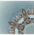 Ornamental round lace background in ethnic style vector image