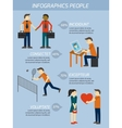 People relations infographics elements vector image vector image