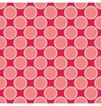 Seamless red pattern with big pastel pink dots vector image