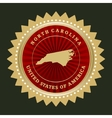 Star label North Carolina vector image