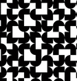 Black and white solid geometric seamless pattern vector image vector image