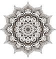mandala mehendi vector image