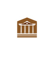 Building with columns logo Lawyer real estate sign vector image