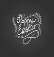 Card with Happy Easter lettering vector image