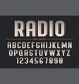 decorative vintage retro typeface font vector image