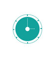 dotted shape wall circle clock object design vector image
