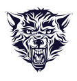 emblem logo tattoo head of a wolf vector image