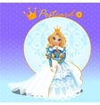 Fictional character doll Queen vector image