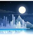 Midnight landscape vector image
