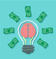 Money and Brain Idea Concept vector image