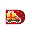 online buy truck delivery card vector image