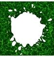 Isolated white color blotch logo Milk vector image
