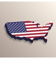 USA map with United States flag vector image