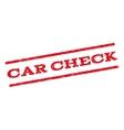 Car Check Watermark Stamp vector image
