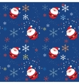 Seamless pattern with santa vector image vector image