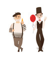 french characters typical artist and mime vector image