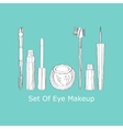 set of eye makeup vector image