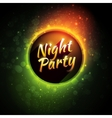 colorful flyer premium template for night vector image