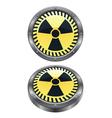 radioactive icon vector image vector image