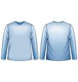 Blue shirt vector image