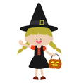 Halloween cute witch vector image