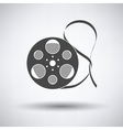 Movie reel icon vector image