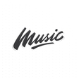 Music lettering print vector image