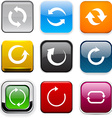 Square color arrow icons vector image