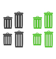 trash can silhouette vector image
