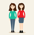 Two sisters Two sisters concept vector image