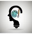 silhouette idea creativity icon vector image