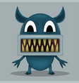 angry horror monster vector image