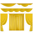 different pattern of yellow curtains vector image vector image