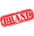 Brand stamp vector image vector image