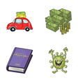 travel education and other web icon in cartoon vector image