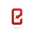 Mobile phone app letter E logo icon design vector image