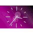 purple clock vector image