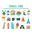 Travel Time Items Collection vector image