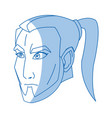 character face samurai male angry expression vector image